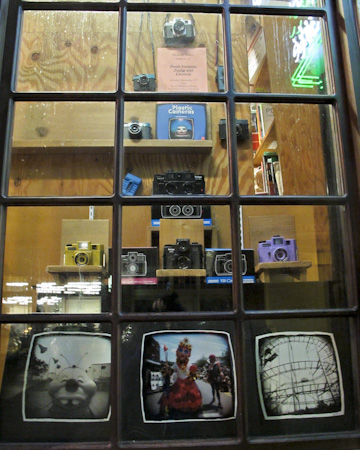 Window Display at Elliott Bay Book Co in Seattle for Plastic Cameras: Toying with Creativity