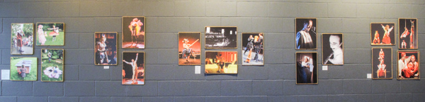"One wall of ""20 Years of Northwest Performance Photography"" at West of Lenin, Seattle, spring 2014"